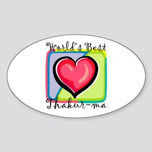 WB Grandma [Bengali] Oval Sticker